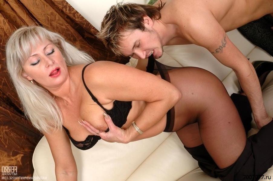 Секс С Русской Зрелой Блондинкой